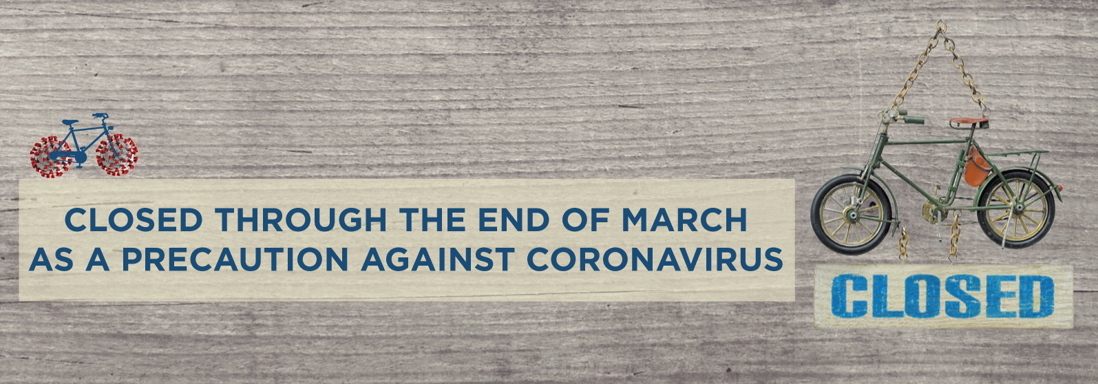 closed through the end of march due to coronavirus